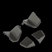 Набор декоративных крышек на лучи для Hubsan H117S Zino черные - ZINO000-64